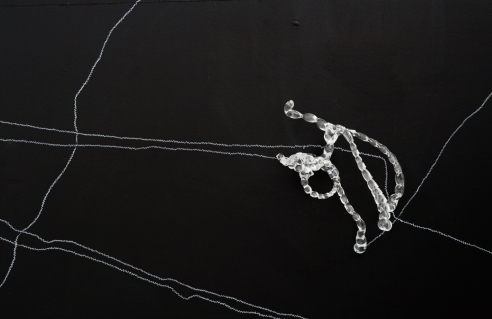 Tara Woudenberg glass and pencil